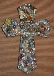 wood crosses for crafts decorated wooden cross with gems by grammieself on etsy 35 00