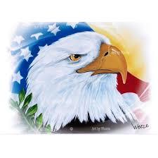 Bald Eagle On Flag Eagle Art Eagle Print Patriotic Eagle Art American Bald