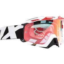 fox air space mx goggle fox air space 360 race white red 2016 mxweiss motocross shop