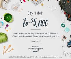 wedding regestries wedding registry your chance to win 5000 the