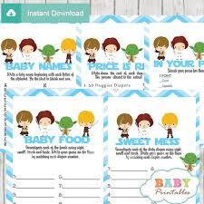 Star Wars Baby Shower Invitations - blue chevron star wars baby shower games d205 baby printables
