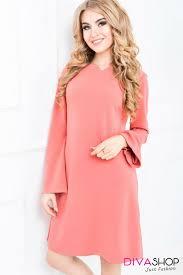 rochii de zi rochie trapez cu maneci largi divashop ro