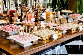 Pink And Gold Dessert Table by Gold And Bubblegum Pink Dessert Table Wedding Decor Idea By La