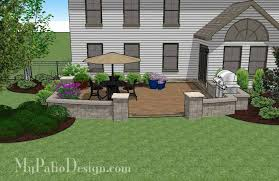 415 sq ft private backyard patio design with seat wall 415 sq ft download