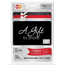gift card packs vanilla mastercard 75 multi pack 3 25 gift cards sam s club