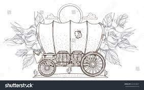 covered wagon coloring page 100 images western coloring pages