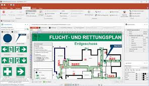 Fire Evacuation Route Plan by Fluchtplan Software To Shape Evacuation And Escape Plans