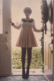 plain red dress attach white collar minnie mouse halloween