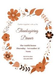 free thanksgiving invitation templates greetings island