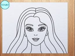 draw barbie face