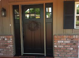 Stain For Fiberglass Exterior Doors Popular Fiberglass Entry Doors With Sidelights Three Dimensions Lab