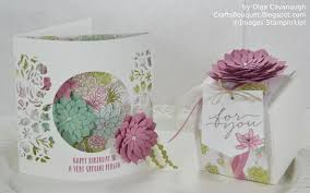 How To Make A Window by Crafts Bouquet Stampin U0027up Oh So Succulent Birthday Card And Gift Box