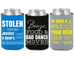 wedding can koozies custom koozies and printed can coolers design personalized koozies