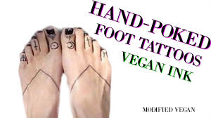 foot tattoo aftercare question hand poked foot tattoos youtube
