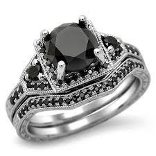 Black Diamond Wedding Rings by Black Diamond Ring Unusual Engagement Rings Review