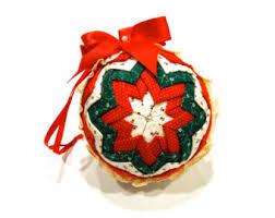 fabric ornaments etsy
