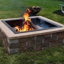 36 Fire Pit by Amazon Com Sunnydaze Square Heavy Duty Fire Pit Rim Liner Diy