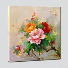 home decor flower decor flower canvas paintings with varnish for canvas painting