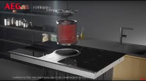 Hob With Built In Extractor by Combohob With Filtering And Exhaust Mode Aeg Hob Youtube