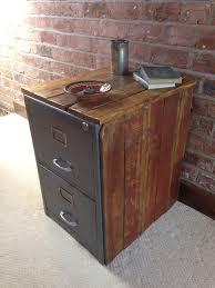 Reclaimed Wood File Cabinet Vintage Industrial Chic Metal Filing Cabinet Encased In Reclaimed
