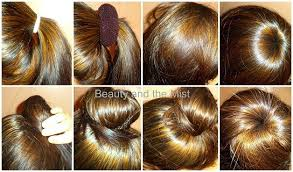 hair color put your picture hair bun with donut new hair colour beauty and the mist