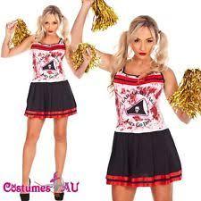 Zombie Cheerleader Costume Women U0027s Cheerleader Costumes Ebay