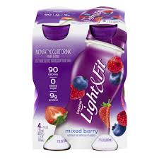 dannon light and fit nutrition dannon light fit mixed berry yogurt drink 7 fl oz from stop