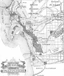San Diego City Map by South Bay Historical Society