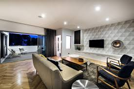 architecture fantastic living room with minimalist sofa from