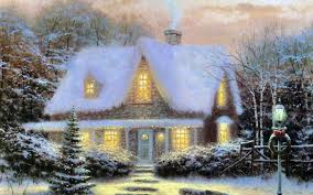 Thomas Kinkade Home Interiors Cottages For Xmas Decorating Ideas Fancy In Cottages For Xmas Home