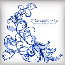background blue silver ornaments free vector