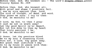 trinity hymnal hymn before thee god who knowest all the lord u0027s