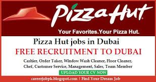 pizza hut jobs in dubai uae