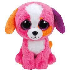 ty beanie boo plush stuffed animal precious pink dog 9