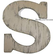 wooden intial s rustic wood letter 12 inch letter wall decor
