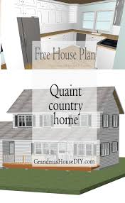 free house plan quaint country cottage grandmas house diy