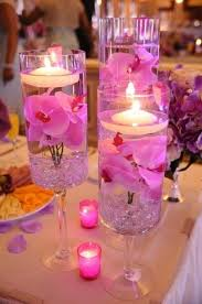 Dollar Tree Vases Centerpieces Simple Centerpiece Water Floating Candle Gems From Dollar Tree