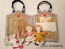 xoxo grandma fabric doll house u0026 a free pattern to make a mini