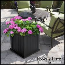 self watering plastic planter boxes patio planter hooks and lattice