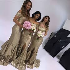 Sweetheart Ruffles Long Gold Sequin Mermaid Prom Dresses 2016