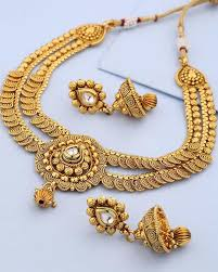 yellow necklace set images Buy designer necklace sets ethnic yellow gold plated copper jpg