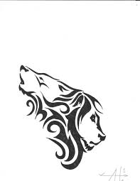 tribal wolf and lion tattoo designs tattooshunter com
