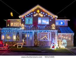 house christmas lights christmas lights house stock images royalty free images vectors