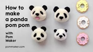 how to make a panda pompom pom maker tutorial