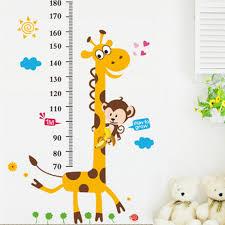 online get cheap children height chart aliexpress alibaba group cartoon children wall stickers giraffe animal kids height chart measure decals