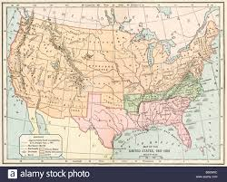 Map Of Usa In 1861 by Map Of The United States During The Civil War 1861 To 1865 Stock