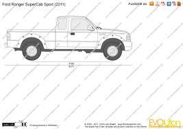 Ford Ranger Truck 2008 - the blueprints com vector drawing ford ranger supercab sport