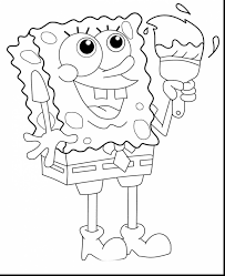 beautiful spongebob coloring pages print out with spongebob