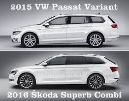 white volkswagen passat 2015 2016 škoda superb combi vs 2015 vw passat variant thinglink
