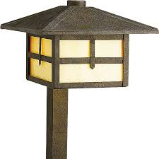 Progress Landscape Lighting Shop Progress Lighting Mission 18 Watt Weathered Bronze Low